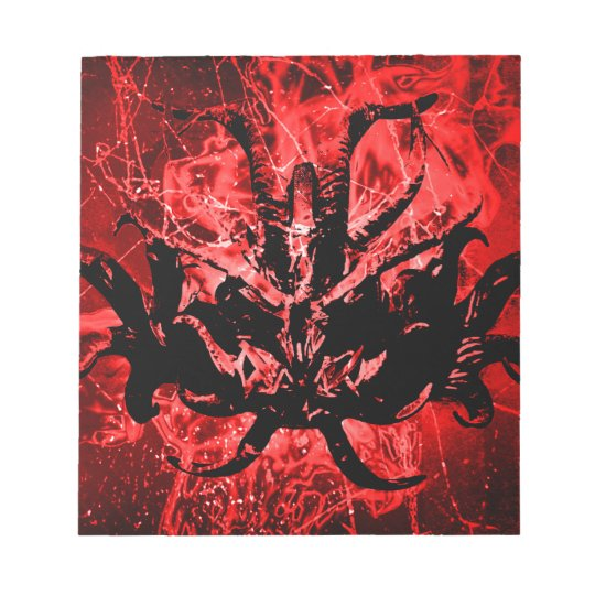 Scary Tribal Mask Notepad