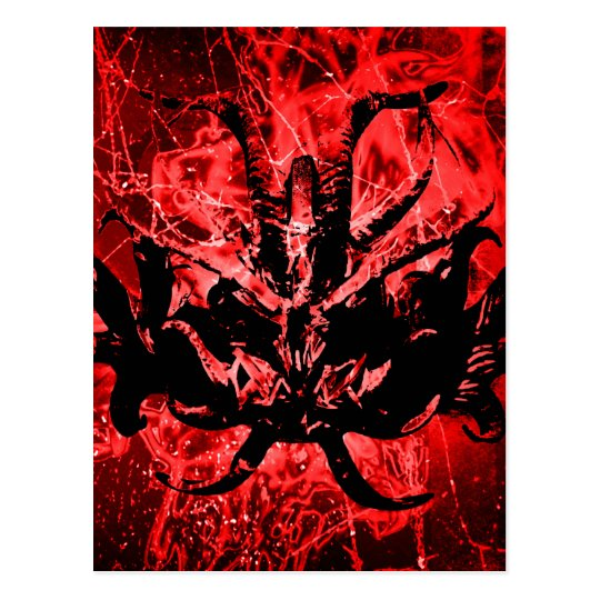 Scary Tribal Mask Postcard