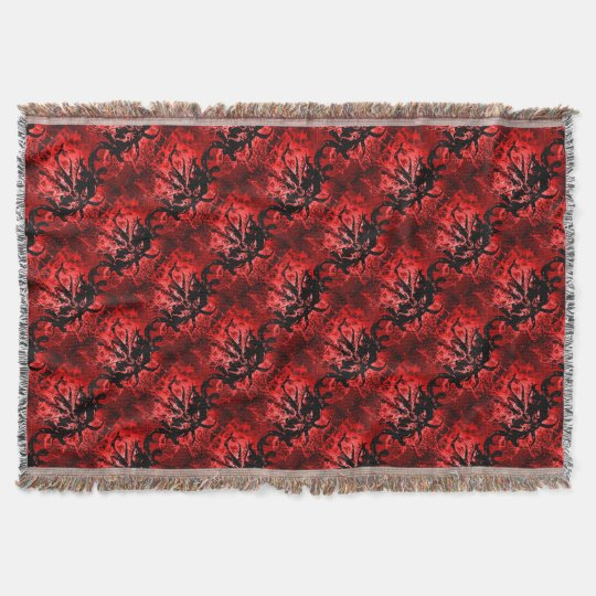 Scary Tribal Mask Throw Blanket