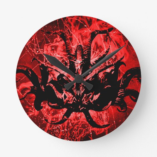 Scary Tribal Mask Wallclock