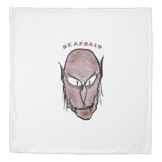 Scary Vampire Drawing Duvet Cover