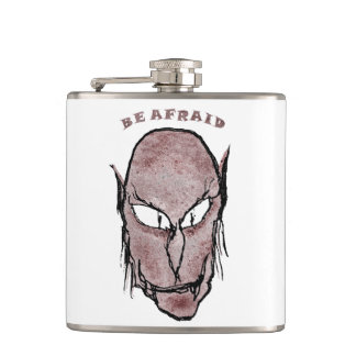 Scary Vampire Drawing Hip Flask