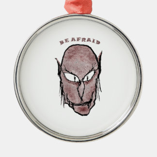 Scary Vampire Drawing Metal Ornament