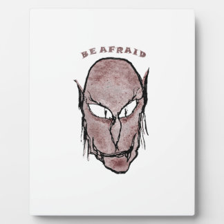 Scary Vampire Drawing Plaque