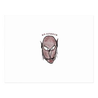 Scary Vampire Drawing Postcard