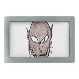 Scary Vampire Drawing Rectangular Belt Buckle