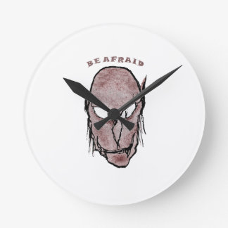 Scary Vampire Drawing Round Clock