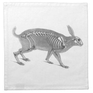 Scary vintage bunny skeleton napkin