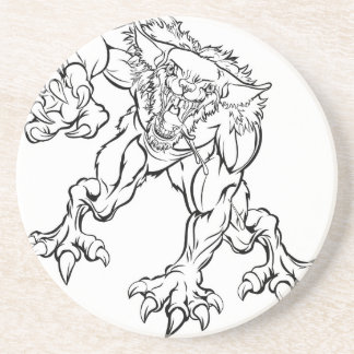 Scary Werewolf  Monster Character Coaster