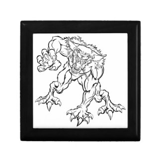 Scary Werewolf  Monster Character Gift Box