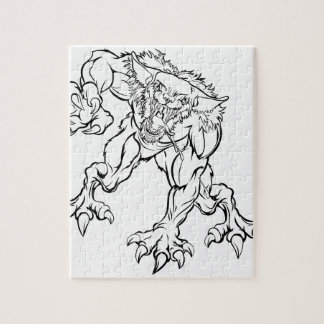 Scary Werewolf  Monster Character Jigsaw Puzzle