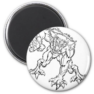 Scary Werewolf  Monster Character Magnet