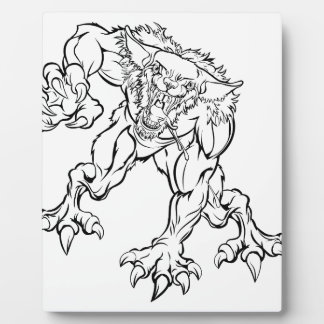 Scary Werewolf  Monster Character Plaque