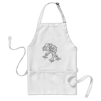Scary Werewolf  Monster Character Standard Apron
