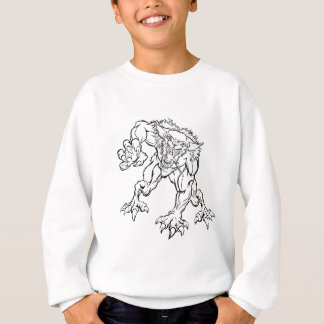 Scary Werewolf  Monster Character Sweatshirt