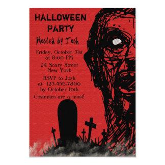 Scary Zombie Halloween Invitation