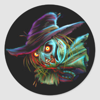 ScaryCrow Scarecrow with glowing eyes Sticker