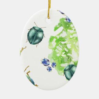 Scatter Beetle Ceramic Oval Ornament