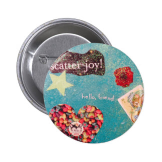 Scatter Joy! Collage Glitter Pin