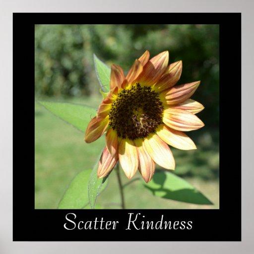 Scatter Kindness Sunflower Poster