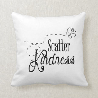 Scatter Kindness Throw Pillow