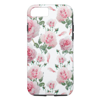 Scatter Pink Roses Pattern iPhone 8/7 Case