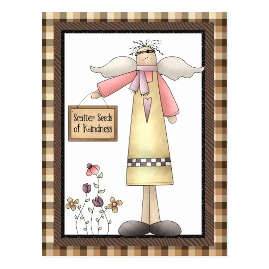 Scatter the seeds of Kindness Angel postcard