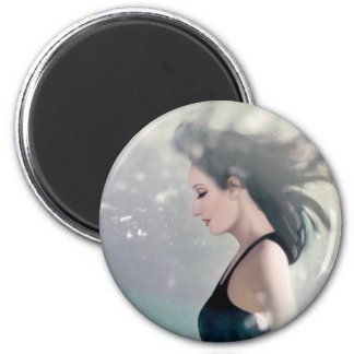 Scattered across the scars of my existence 2 inch round magnet