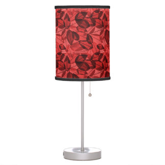 Scattered Autumn Leaves Shades of Red Table Lamp