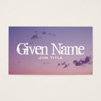 Scattered Clouds Business Card