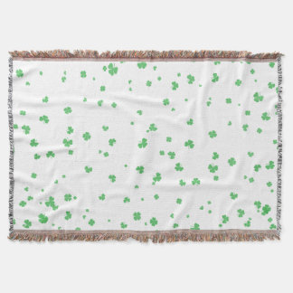 Scattered clover throw blanket, St. Patrick's Day