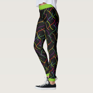 Scattered Colourful Lines Leggings