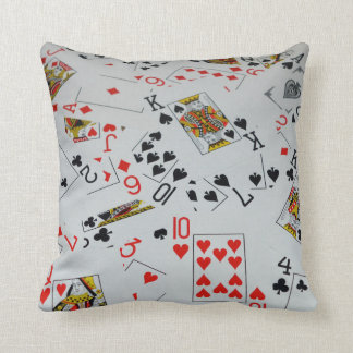 Scattered Deck Of Cards, Throw Cushion. Throw Pillow