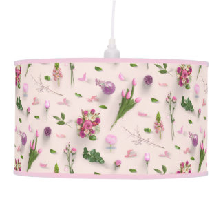 Scattered Flowers Pink Pendant Lamp