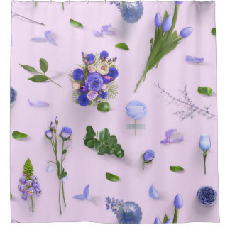Scattered Flowers Purple