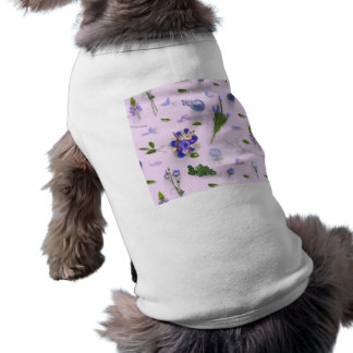 Scattered Flowers Purple Doggie Tshirt