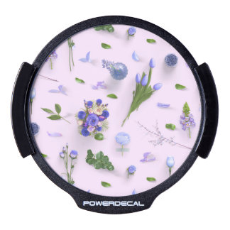 Scattered Flowers Purple LED Window Decal