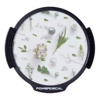 Scattered Flowers White LED Auto Decal