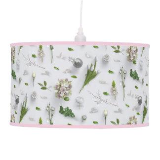 Scattered Flowers White Pendant Lamp