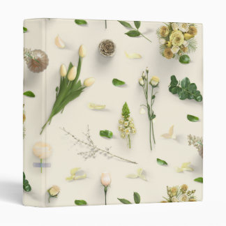 Scattered Flowers Yellow Binder