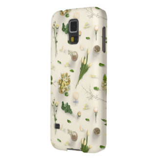 Scattered Flowers Yellow Case For Galaxy S5