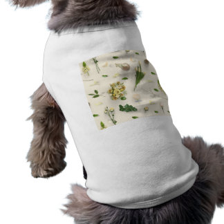 Scattered Flowers Yellow Pet T Shirt