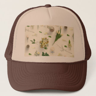 Scattered Flowers Yellow Trucker Hat