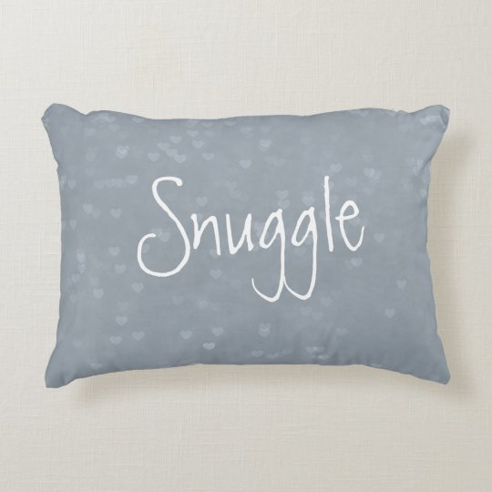 Scattered Hearts Snuggle Decorative Pillow