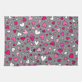 Scattered Hearts Towel