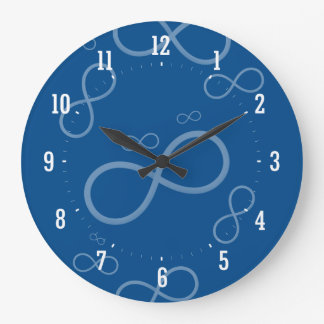 Scattered Infinity Symbols | Geek Gifts Large Clock