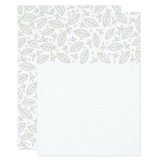 Scattered Leaves Wedding Invitation-white Card