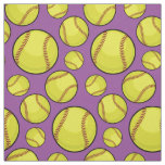 Scattered Softball Balls Fabric