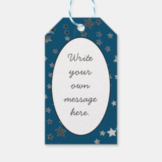 Scattered Stars on Blue Pack Of Gift Tags