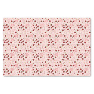 Scattered Strawberry Swirl Pattern Tissue Paper